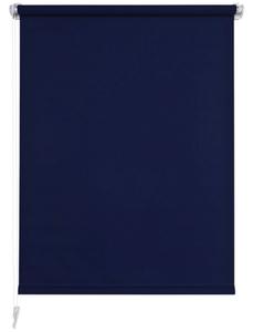Seitenzugrollo, blau, Klemmfix, Polyester