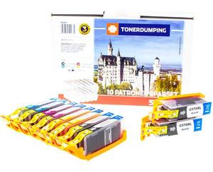 TONERDUMPING XXL Tintenpatronen Spar-Set Canon PGI 570/571 10er Set