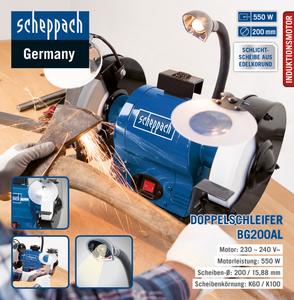 Scheppach Schleifmaschine BG200AL 0.55 kW 230/50 WE