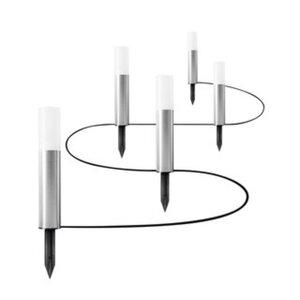 Osram LED Endura Garden Pole Mini Außenbeleuchtung 5 x Erdspieß silber