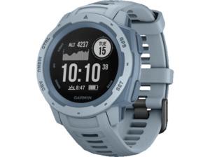 GARMIN  Instinct Smartwatch Faserverstärktes Polymer, Silikon, S-L, Hellblau/Blau