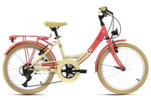 KS Cycling Kinderfahrrad 20'' Kahuna beige-rot RH 34 cm
