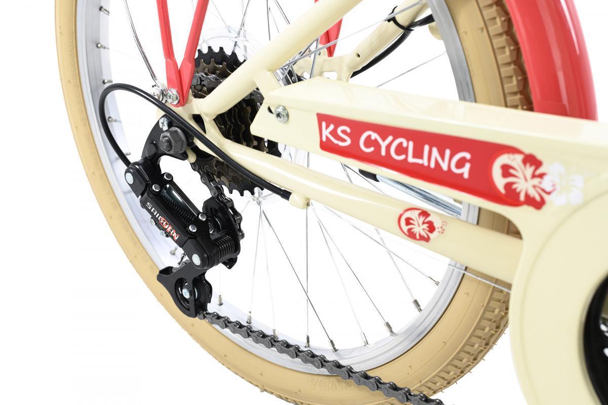 Bild 2 von KS Cycling Kinderfahrrad 20'' Kahuna beige-rot RH 34 cm