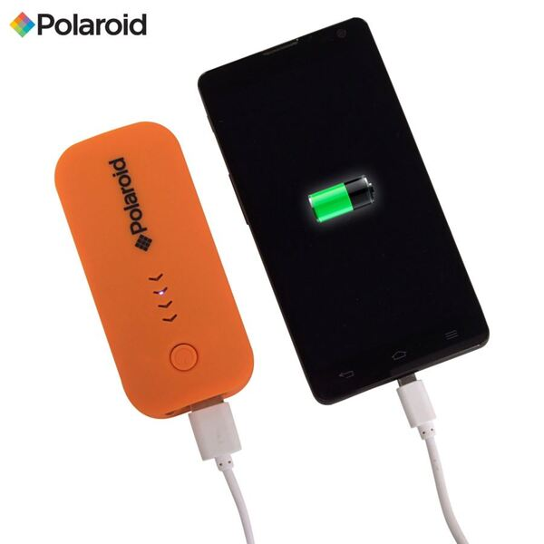 Polaroid Power Bank Mobiler Akku-Pack 4000mAh Orange