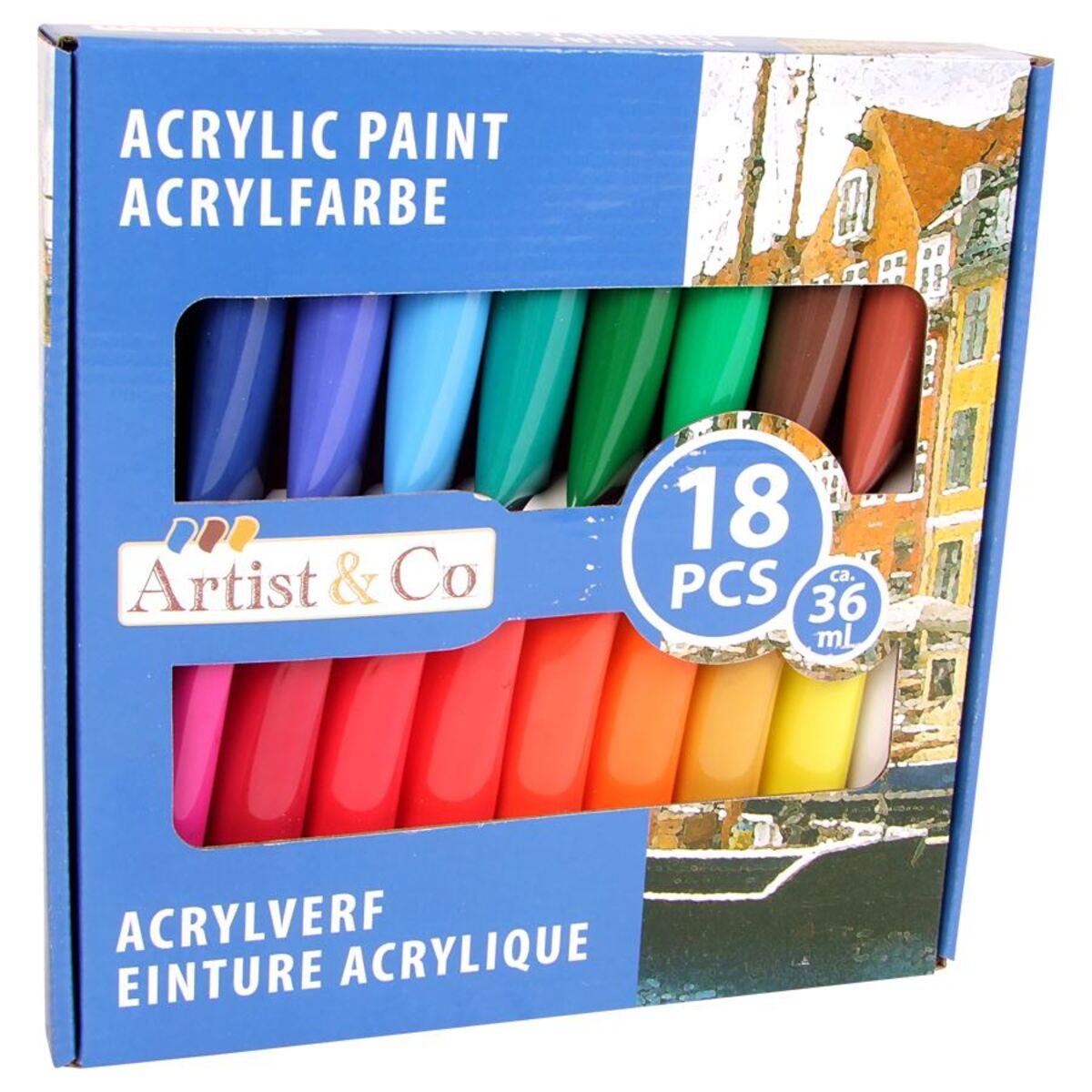 Bild 2 von Artist & Co Acrylfarben 18-teilig
