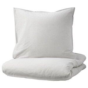 BERGPALM Bettwäscheset, 2-teilig, grau, Streifen