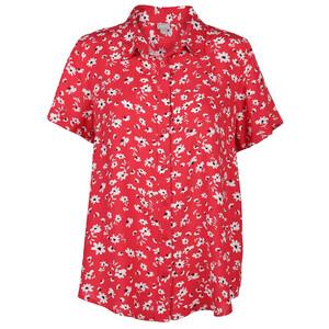 Damen Bluse mit kurzem Arm und Minimalprint