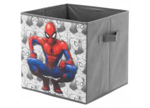 Stoffbox Spiderman grau