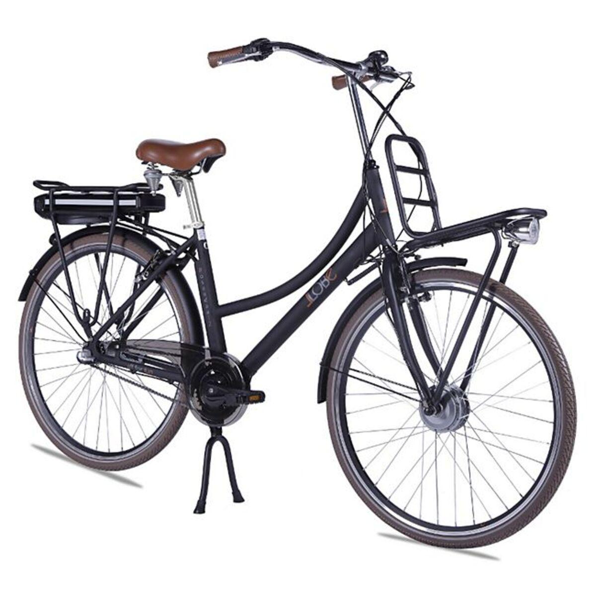 Bild 1 von Llobe Alu Elektro City Bike Rosendaal 2 28 Zoll Lady schwarz 36V/10,4Ah