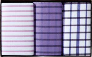 Lindenmann Damen-Taschentücher im 3er-Pack  Streifen#Karo  43x43 cm