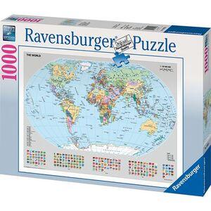 Ravensburger 1000 Teile Puzzle - Politische Weltkarte