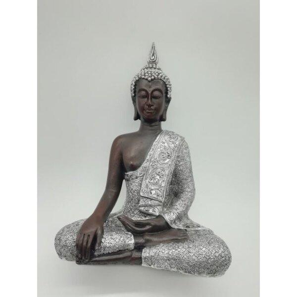 Dekofigur Buddha, ca. 25 x 34 x 13 cm, Polyresin