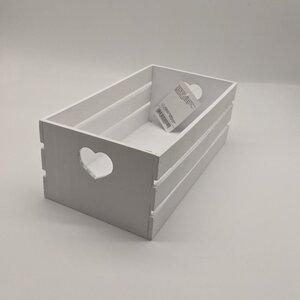 Holzbox weiß 32 x 17 x 12 cm