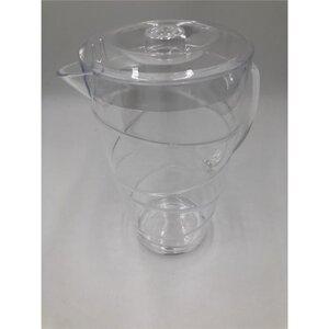 Karaffe, Swirl-Optik, mit Deckel, 2 l, transparent