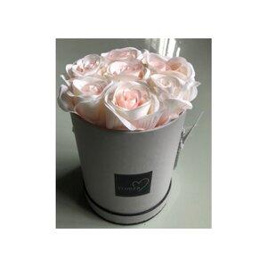 Rosen in Geschenkbox, künstlich, Ø ca. 14 x 18,5 cm, rosa