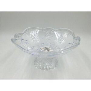 Servierschale, mit Fuß, Glas-Optik, Ø ca. 26 cm, transparent