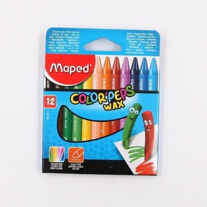 "Maped Wachsmalstifte 12er-Set ""ColorPeps Wax"" Wachsmaler Wachsstifte"