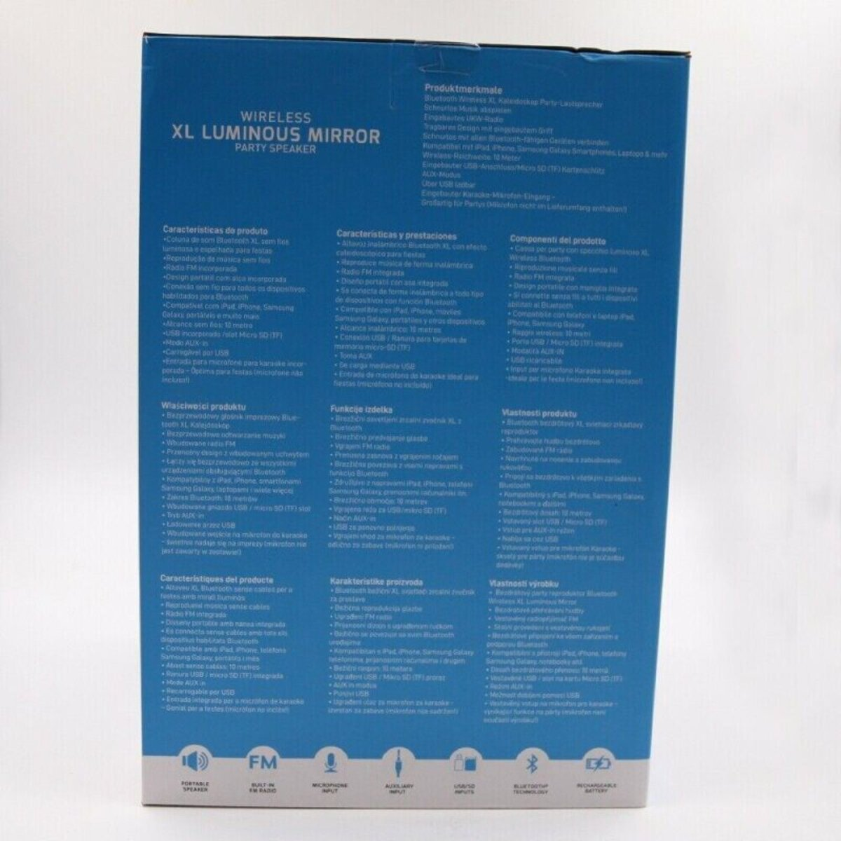 Bild 3 von Soundlogic Luminous Party Speaker Bluetooth Box Lautsprecher mit Karaokefunktion