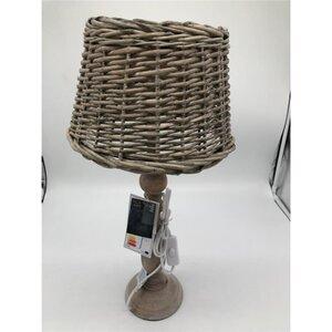 Tischlampe, holzgeflochten, 13,5 x 13,5 x 54 cm