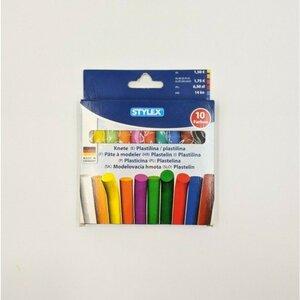 Stylex 10er Pack Knete, ca. 11 cm, bunt sortiert