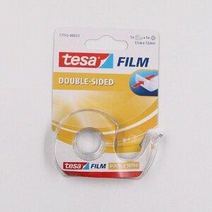 tesa Film Tesafilm doppelseitiges Klebeband mit Abroller transparent 7,5 m