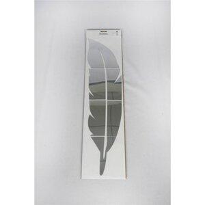 Wandsticker, Feder mit Spiegel, ca. 18 x 73 cm, Kunststoff