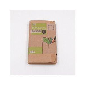 10er-Pack kompostierbare Bio-Müllbeutel, 10 l, Papier, braun