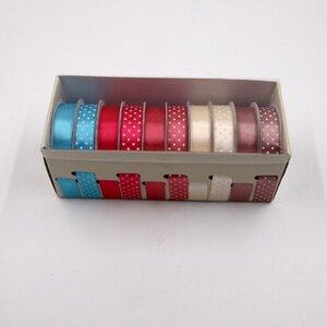 10 x Schleifenband Dekoband Geschenkband Satinband in Spenderbox Polyester