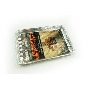 Aluminium-Servierplatte, zum Grillen/Kochen, 2er-Pack, eckig, ca. 34 x 24 cm