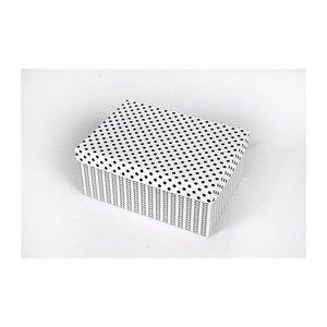 Aufbewahrungsbox, schwarz/weiß metallic, verschiedene Größen