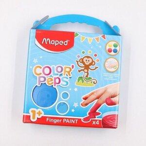 Maped Color`Peps Fingerfarbe Fingermalfarbe Kinderfarbe 4 x 80 ml bunt