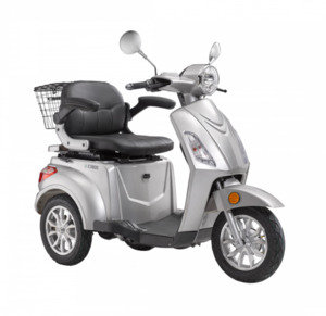 LuXXon E-Dreirad E3800 20 km/h (Mofa-Klasse), keine Helmpflicht, silber