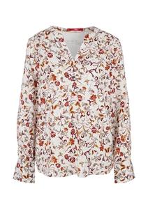Damen Viskosebluse mit floralem Print