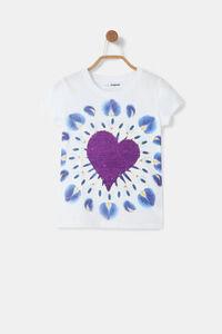 T-Shirt Herz Boho-Aufdruck