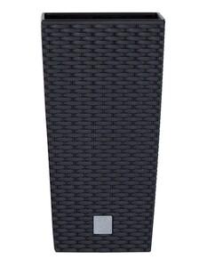Powertec Garden Design Pflanzsäule mit Einsatz in Rattanoptik anthrazit 62 cm