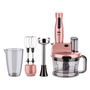 Fakir Stabmixer-Set Mr Chef Quadro, rosé - 1.000 Watt