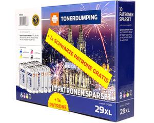 TONERDUMPING XL-Druckerpatronen kompatibel zu Epson 29XL 10er Set +1x Schwarz gratis