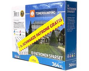 TONERDUMPING XL-Druckerpatronen kompatibel zu HP 364XL 4x Schwarz + je 2x Cyan, Magenta, Gelb 10er S