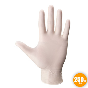 Multitec XXL-Latex-Einweghandschuhe, Größe S - Weiß, 250er-Set