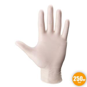 Multitec XXL-Latex-Einweghandschuhe, Größe L - Weiß, 250er-Set