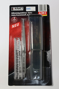Kraft Werkzeuge Säbelsägeblatt-Set für Holz, Holz mit Nägeln und Kunststoff - 3tlg.