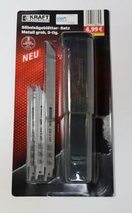 Kraft Werkzeuge Säbelsägeblatt-Set für Bleche, Rohre und Profile - 3tlg.