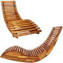Bild 2 von Deuba Ergonomische Schwungliege Saunaliege aus Akazienholz inkl. Auflage - FSC® zertifiziert