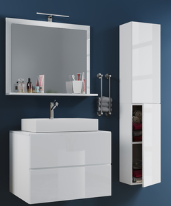Badblock Lendas L 80cm Unterschrank + Spiegel + 1 Seitenschrank