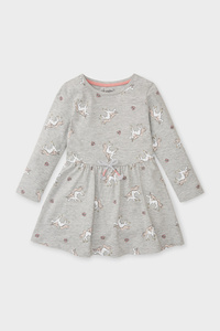 C&A Einhorn-Kleid-Bio-Baumwolle, Grau, Größe: 110