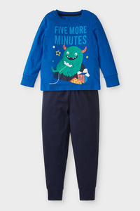 C&A Pyjama-Bio-Baumwolle-2 teilig, Blau, Größe: 104
