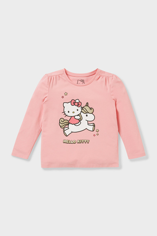 C&A Hello Kitty-Langarmshirt-Bio-Baumwolle, Rosa, Größe: 110