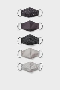 C&A Multipack 5er-Mund-und Nasenmaske, Weiß, Größe: 1 size