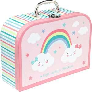 IDEENWELT Spielkoffer für Kinder Regenbogen