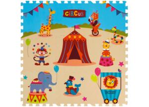 Schaumstoff-Puzzle Zirkus, bestehend aus 9 je ca. 33 x 33 cm großen Puzzlestücken